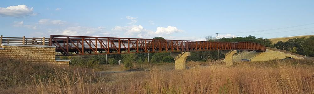 the bridge over County Farm Road
