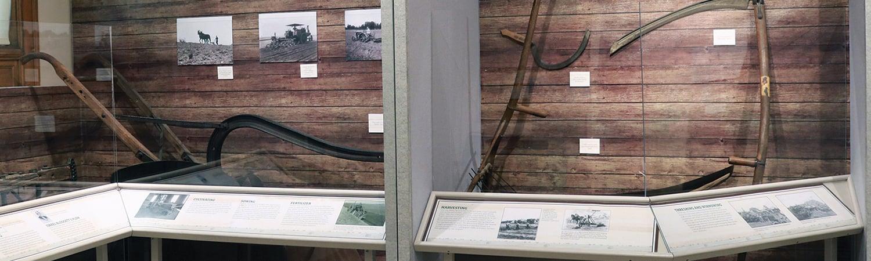 a display of equipment of Kline Creek Farm