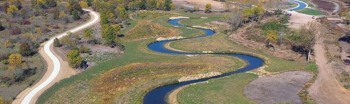 West Branch DuPage River trail along Spring Brook Creek
