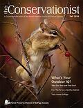 eastern chipmunk on cover of fall 2016 Conservationist