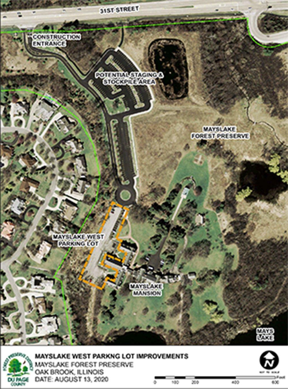 Mayslake-parking-lot-map