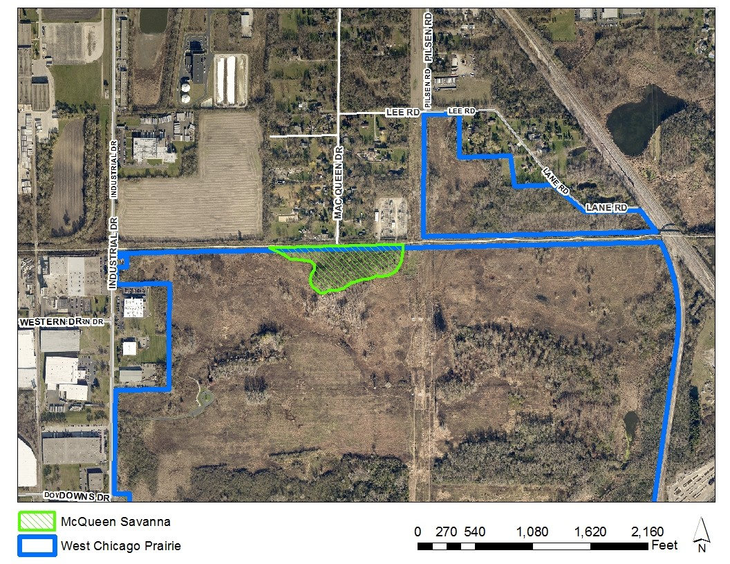 West Chicago Prairie map