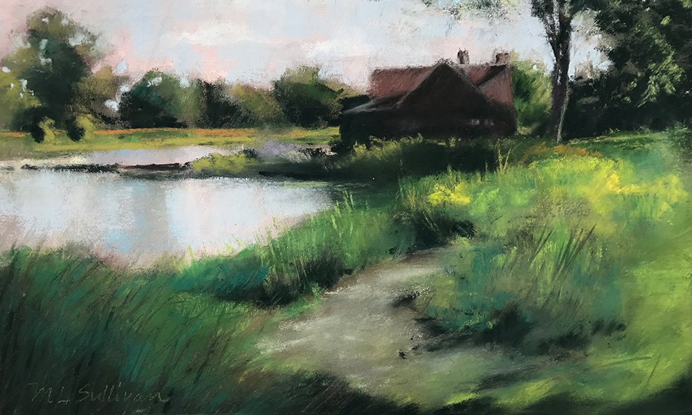 Churchill-Woods-Path-pastel-by-Mary-Lynn-Sullivan