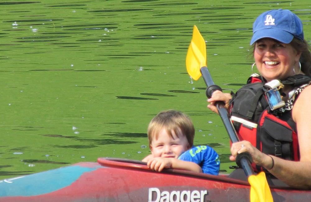Crosby-kayakw-ith-grandchild-Silver-Lake-Blackwell