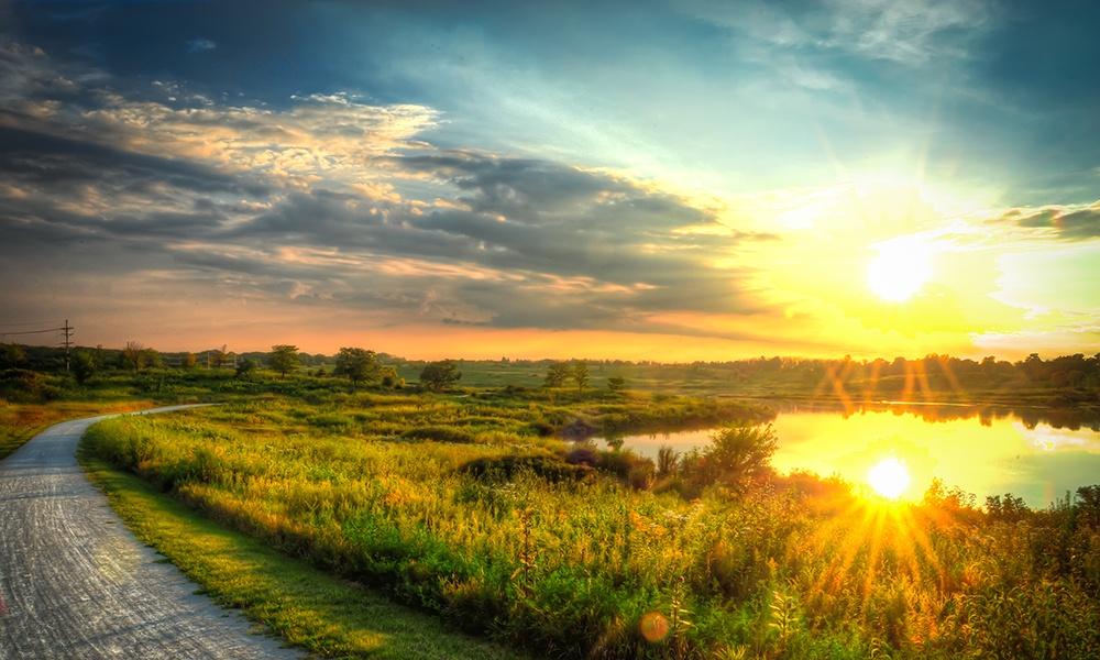 sunrise over Rice Lake at Danada